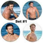 "Scott Eastwood Large Pinback Buttons or Fridge Magnets Set Of 4 LARGE 2.25"" Size"