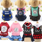 Cute Small Dog Summer Cotton Clothes Puppy Striped Jumpsuit Pet Cat Coat Costume