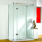 KUDOS INFINITE STRAIGHT HINGED DOOR 8MM GLASS BATHROOM SHOWER SCREEN ENCLOSURE