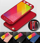 Hybrid 360° Shockproof Slim Hard case Cover Tempered Glass for Xiaomi Redmi 4x
