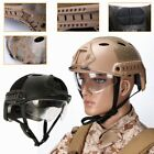 Tactical SWAT Protect Fast Helmet + Goggles Eye Mask for Airsoft Paintball Hunt