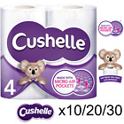 Cushelle Toilet Tissue White 4 Rolls (Pack of 10,20 &30 Total 40,80 & 120 Rolls)