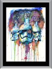 Star Wars Watercolour Storm Trooper A1 To A4 Size Poster Prints $24.6 AUD