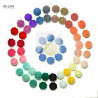 10/25pcs Resin Flatback Cabochons Cameo Flower Embellishment 13x13x7.5mm OBRB590