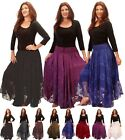 LotusTraders MAXI SKIRT SATIN LACE ELASTIC WAIST MADE TO ORDER PLUS SIZE W344