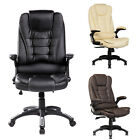 Recliner Office Computer Chair Home High Back Double Padded Executive Adjustable