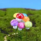 10 pieces Small Miniature Fairy Gnome Garden Mushrooms Purple Yellow Red