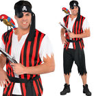 Mens Pirate Costume – Adults Fancy Dress Pirate Outfit Amscan 844220 Plus Size