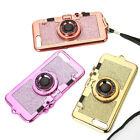 Thin Glitter Camera Mirror Soft Mobile Cellphone Case Cover for iPhone 6 7 Plus