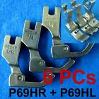 "6 Piping Feet Foot 1/8"" 3/16"" 1/4"" Industrial Sewing Machine Juki P69hr P69hl"