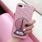Eiffel Tower Glitter Heart Dynamic Quicksand Case Cover For iphone 7 6 6S Plus