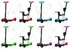 3 in 1 Kick Push Scooter Toddler Kick Kids Flashing Wheel Adjustable Bar