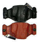 TAGUA QUICK DRAW OWB SNAP-ON BELT HOLSTER Brown/Black Leather - Pick Gun & Color