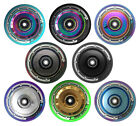 Pair- Solid Core 100mm Chrome Stunt Scooter Wheel Hollow Core Mixed PU NEW 2018