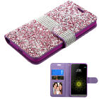 Mini Diamond Glitter Bling Leather Wallet Phone Case Cover Protector For LG G5