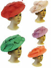 New Ladies Vtg 1940s 50s Glamour Retro Sweetheart  Pin-up Fascinator Hatina Hat