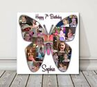Photo Collage butterfly Canvas Print. birthday present gift not heart