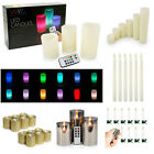 WYZworks LED Flameless Candles Taper Tea Light Pillar Faux Wax