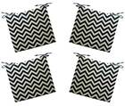 Set of 4 - In / Outdoor Black Ivory Chevron Foam Chair Cushions - Choose Size