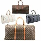 NEW UNISEX CHECKERED OILCLOTH CANVAS TRAVEL HOLIDAY DUFFLE BAG