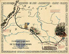 Historic WWII Military War Map TO BELGIUM AND BACK 79th Infantry Division Poster