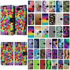 For LG K3 LS450 Various Design Slim Stylish Canvas Wallet Case Cover Phone