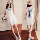 Bow Tie Lace V-neck Korean Women Sweet Summer New Sleeveless Loose Lace Dress