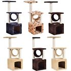 "36"" Deluxe Prevent Scratch Post Cat Tree Pet House Play Toy Condo Furniture New"
