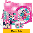 MINNIE MOUSE DOTS PARTY RANGE (Tableware, Balloons & Decorations)