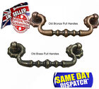 VINTAGE OLD STYLE IRON BRASS CUPBOARD CHEST DRAWER DROP BAR SWING PULL HANDLE