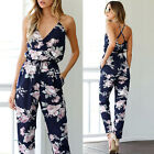 Women Jumpsuit Sleeveless VNeck Floral Printed Playsuit Party Trousers PairPants
