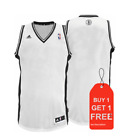 Brooklyn Nets NBA adidas White Blank Basketball Jersey