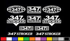 10 DECAL SET 347 CI V8 POWERED ENGINE STICKERS EMBLEMS 5.0 STROKER 302 DECALS