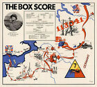 WWII Military War Map The Box Score 7th Armored Division U.S. Army Poster WW2