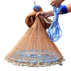Nylon Woven Tire line Monofilament Fishing Fish Gill Net with Frisbee 7.2M x3.6M