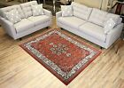 Persian Rugs Burnt Orange Terra isfahan Medallion Traditional Area Rug 5x7 8x10
