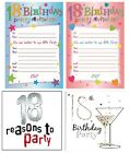 AGE 18 - 18th BIRTHDAY Party Invitations & Envelopes Boy Male Girl Female Invite