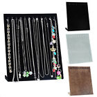 jewelry stand organizer - US Velvet Necklace Chain Jewelry Display Holder Stand Easel Organizer Rack SF