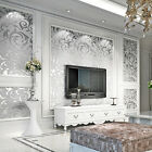 3D Modern Wall paper Roll Silver Background for Living Room & Bedroom Home Decor