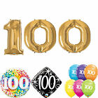 Age 100 - Happy 100th Birthday Qualatex Balloons {Helium Party Balloons}