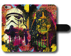 Star Wars Darth Vader Stromtrooper Dark Side Colours Leather Phone Case Cover £13.99 GBP