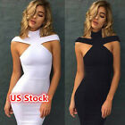 USA Women's Bandage Bodycon Sleeveless Evening Party Cocktail Short Mini Dress