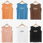 Womens Ciao Slogan Sleeveless T Shirt Vest Cami Statement Casual Style