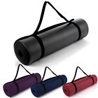 10mm Non-Slip Foam Thick Yoga Pilates Exercise Fitness Mat Carry Strap Camping