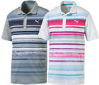 Puma Washed Stripe Polo Golf Shirt 572204 Men's New - Choose Color & Size!