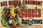 New Aux Buttes Chaumont Jouets Vintage Advertising Poster Poster