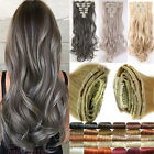 8piece Clip in on Full Head Hair Extensions 100% Real Natural as human Hair SS19