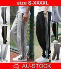 Mens Track Pants Gym Tracksuit Trousers Trackies Sport Jogger Training Workout