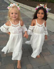 Girls Princess Dress Kids Baby Party Wedding Pageant Lace Long Dresses Clothes
