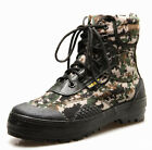 Mens Camo Ankle Military Riding Boots Outdoor Hiking Lace Up Combat Shoes I400